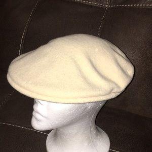 Kangol wool flat cap cream large men's hat logo